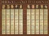 Heroes Of The Old Testament - Wall Chart - Laminated