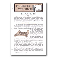 Studies In The Bible - Correspondence (Hawley)